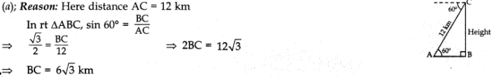 MCQ Questions for Class 10 Maths Application of Trigonometry with Answers 15