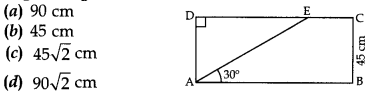 MCQ Questions for Class 10 Maths Application of Trigonometry with Answers 5