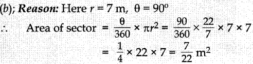 MCQ Questions for Class 10 Maths Areas Related to Circles with Answers 1