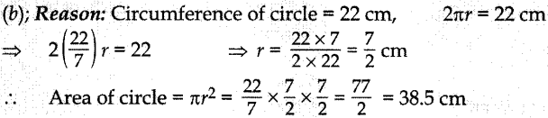 MCQ Questions for Class 10 Maths Areas Related to Circles with Answers 3
