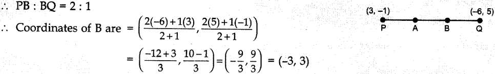 MCQ Questions for Class 10 Maths Coordinate Geometry with Answers 1