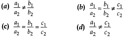MCQ Questions for Class 10 Maths Pair of Linear Equations in Two Variables with Solutions 1