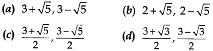 MCQ Questions for Class 10 Maths Quadratic Equations with Answers 2