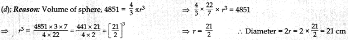 MCQ Questions for Class 10 Maths Surface Areas and Volumes with Answers 5