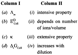 Chemistry MCQs for Class 12 with Answers Chapter 3 Electrochemistry 22