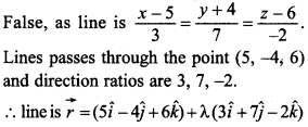 Maths MCQs for Class 12 with Answers Chapter 11 Three Dimensional Geometry 16
