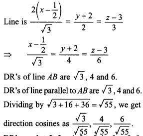 Maths MCQs for Class 12 with Answers Chapter 11 Three Dimensional Geometry 18