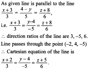 Maths MCQs for Class 12 with Answers Chapter 11 Three Dimensional Geometry 20