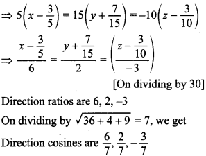 Maths MCQs for Class 12 with Answers Chapter 11 Three Dimensional Geometry 29