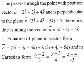 Maths MCQs for Class 12 with Answers Chapter 11 Three Dimensional Geometry 40