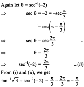 Maths MCQs for Class 12 with Answers Chapter 2 Inverse Trigonometric Functions 20