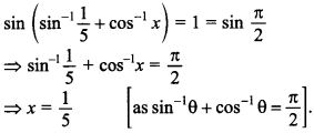 Maths MCQs for Class 12 with Answers Chapter 2 Inverse Trigonometric Functions 31