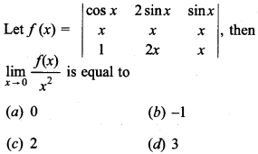 Maths MCQs for Class 12 with Answers Chapter 4 Determinants 10