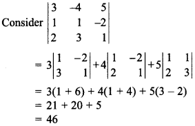 Maths MCQs for Class 12 with Answers Chapter 4 Determinants 25