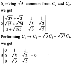 Maths MCQs for Class 12 with Answers Chapter 4 Determinants 33