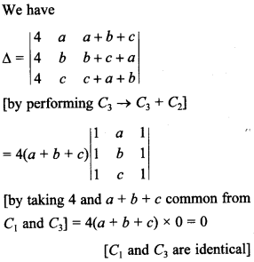Maths MCQs for Class 12 with Answers Chapter 4 Determinants 35