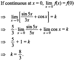 Maths MCQs for Class 12 with Answers Chapter 5 Continuity and Differentiability 28