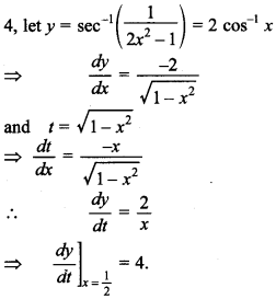 Maths MCQs for Class 12 with Answers Chapter 5 Continuity and Differentiability 52