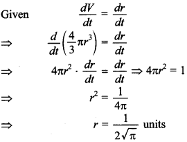 Maths MCQs for Class 12 with Answers Chapter 6 Application of Derivatives 10