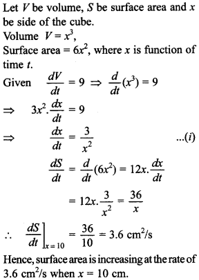 Maths MCQs for Class 12 with Answers Chapter 6 Application of Derivatives 14