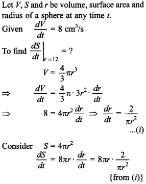 Maths MCQs for Class 12 with Answers Chapter 6 Application of Derivatives 15