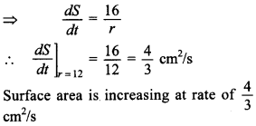 Maths MCQs for Class 12 with Answers Chapter 6 Application of Derivatives 16
