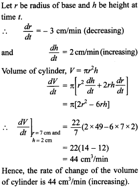 Maths MCQs for Class 12 with Answers Chapter 6 Application of Derivatives 17