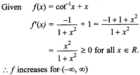 Maths MCQs for Class 12 with Answers Chapter 6 Application of Derivatives 20