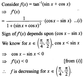 Maths MCQs for Class 12 with Answers Chapter 6 Application of Derivatives 23