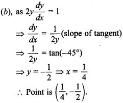 Maths MCQs for Class 12 with Answers Chapter 6 Application of Derivatives 25