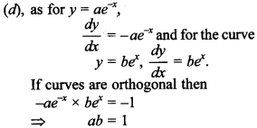 Maths MCQs for Class 12 with Answers Chapter 6 Application of Derivatives 27