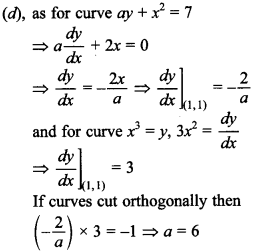 Maths MCQs for Class 12 with Answers Chapter 6 Application of Derivatives 28