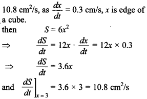 Maths MCQs for Class 12 with Answers Chapter 6 Application of Derivatives 3