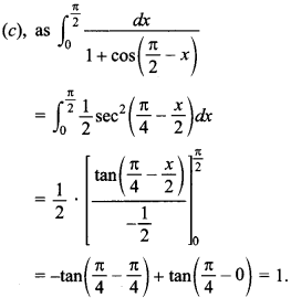 Maths MCQs for Class 12 with Answers Chapter 7 Integrals 116