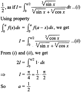 Maths MCQs for Class 12 with Answers Chapter 7 Integrals 127
