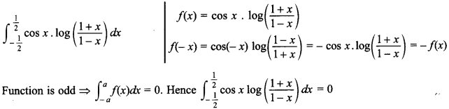 Maths MCQs for Class 12 with Answers Chapter 7 Integrals 133