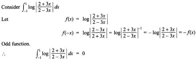 Maths MCQs for Class 12 with Answers Chapter 7 Integrals 140