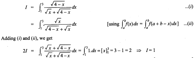 Maths MCQs for Class 12 with Answers Chapter 7 Integrals 148
