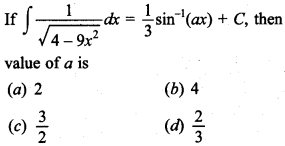 Maths MCQs for Class 12 with Answers Chapter 7 Integrals 30