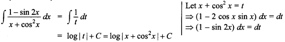 Maths MCQs for Class 12 with Answers Chapter 7 Integrals 95