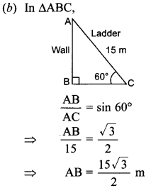 MCQ Questions for Class 10 Maths Application of Trigonometry with Answers 18