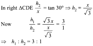 MCQ Questions for Class 10 Maths Application of Trigonometry with Answers 30