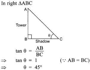 MCQ Questions for Class 10 Maths Application of Trigonometry with Answers 31
