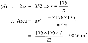 MCQ Questions for Class 10 Maths Areas Related to Circles with Answers 16