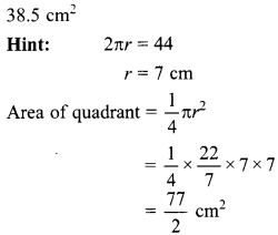MCQ Questions for Class 10 Maths Areas Related to Circles with Answers 20