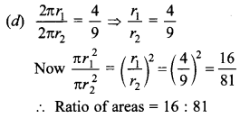 MCQ Questions for Class 10 Maths Areas Related to Circles with Answers 22