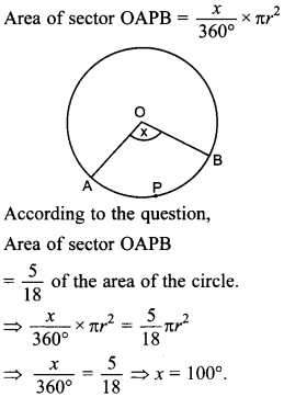 MCQ Questions for Class 10 Maths Areas Related to Circles with Answers 32