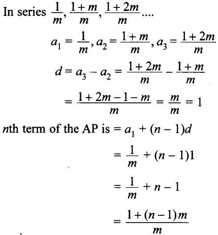MCQ Questions for Class 10 Maths Arithmetic Progressions with Answers 7