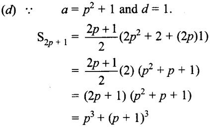 MCQ Questions for Class 10 Maths Arithmetic Progressions with Answers 9