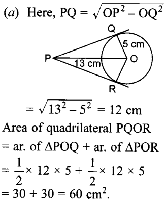 MCQ Questions for Class 10 Maths Circles with Answers 23